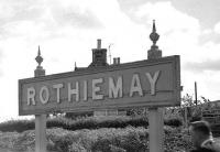 One of the scheduled stops made by 'Scottish Grand Tour no 11' on 5 September 1970 was at Rothiemay, notwithstanding that the station had been closed since 6th May 1968. <br> <br><br>[Bill Jamieson&nbsp;05/09/1970]