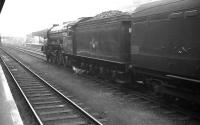 Gresley A3 Pacific no 60050 <I>Persimmon</I> takes the direct route through Doncaster with a train on 28 July 1962. The Pacific was eventually withdrawn by BR the following year and cut up across the road at Doncaster works, where she had been built 39 years earlier.<br> <br><br>[K A Gray&nbsp;28/07/1962]