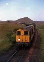 9T26 for Ravenscraig number two waiting for the road on the Benhar branch. July 1978.<br><br>[William Barr&nbsp;/07/1978]