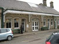 Passenger entrance to the former Alnwick Station, now Barter Books bookshop, in March 2010..<br><br>[Alistair MacKenzie 22/03/2010]
