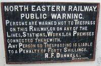 LNER sign at the Anglers Arms Pub, Weldon, Northumberland.<br><br>[Alistair MacKenzie&nbsp;22/03/2010]