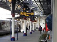 A Glasgow to Aberdeen service boards at Dundee's platform 4 on 20 March 2010.<br><br>[David Panton&nbsp;20/03/2010]