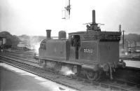 McIntosh 0-4-4T no 55262 takes a break from station pilot duties at the north end of Ayr station in July 1959.<br><br>[Robin Barbour Collection (Courtesy Bruce McCartney)&nbsp;28/07/1959]
