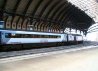 The 1200 Kings Cross - Inverness <I>Highland Chieftain</I> HST prepares to head north from York on 21 March 2010.<br><br>[John Furnevel&nbsp;21/03/2010]