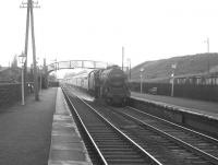 Black 5 no 44862 takes a southbound train through Kirkconnel on 6 August 1966.<br><br>[Colin Miller&nbsp;06/08/1966]