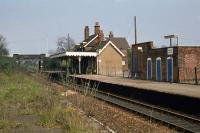 A pre-electrification view of Burnham-on-Crouch station on 30th April 1978, looking towards Southminster.<br><br>[Mark Dufton&nbsp;30/04/1978]
