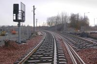 View west at Bathgate on 3 April with signalling equipment now installed.<br><br>[Bill Roberton&nbsp;03/04/2010]