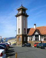 Clock tower at Wemyss Bay station - April 2010. <br><br>[Veronica Inglis&nbsp;02/04/2010]