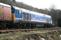 Preserved class 50 no 50027, <I>Lion</I> in Network SouthEast livery, stands in the sidings on the east side of Grosmont shed on 26 March 2010.<br><br>[John Furnevel&nbsp;26/03/2010]
