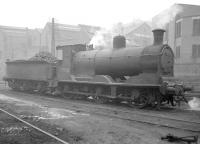 McIntosh 3F no 57550 on shed at Dalry Road in January 1958. <br><br>[Robin Barbour Collection (Courtesy Bruce McCartney)&nbsp;03/01/1958]