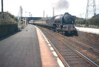 Heaton A1 no 60126 <I>Sir Vincent Raven</I> heads back to Tyneside on 14 June 1958 with the up <I>Queen of Scots</I> Pullman, seen here passing through Joppa station in Edinburgh's eastern suburbs. <br><br>[A Snapper (Courtesy Bruce McCartney)&nbsp;14/06/1958]