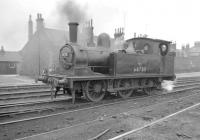 J72 0-6-0T no 68725 on shed at Tweedmouth on 6 August 1957<br><br>[Robin Barbour Collection (Courtesy Bruce McCartney)&nbsp;06/08/1957]