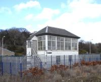 The signal box at Rosyth Dockyard in March 2010. Everything inside appears to be present and correct, but understandably there's a lack of personal touches.<br><br>[David Panton&nbsp;27/03/2010]
