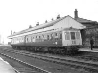 A class 114 DMU at New Holland Town station in August 1970 about to set off for Cleethorpes, having connected with the ferry from Hull.<br><br>[Bill Jamieson&nbsp;21/08/1970]