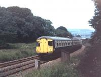I always associate the Swindon Class 123 Cross Country units with the Western Region Paddington services but towards the end of their lives a number appeared on Transpennine routes. Here set C708 approaches Chinley in 1978 on a Hope Valley line working. It is unfortunate that none of these units, with the stylish wrap around windows, were preserved. Adrian Morgan advises me that he explored the possibility of preserving one of these Swindon units and also a Class 124 Transpennine vehicle but both proposals were blocked by BR at Derby because of the level of brown and blue asbestos contamination in both types of unit. <br><br>[Mark Bartlett&nbsp;//1978]