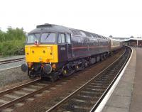 47798 at the rear of <I>The Welsh Dragon</I> special at Llandudno Junction in May 2009.<br><br>[Craig McEvoy&nbsp;09/05/2009]