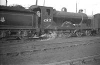 Scott class 4-4-0 no 62427 <I>Dumbiedykes</I> on shed at 62C Dunfermline on 11 February 1959. <br><br>[Robin Barbour Collection (Courtesy Bruce McCartney)&nbsp;11/02/1959]