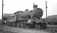 Ex-GWR 2-6-0 no 5330, built at Swindon in 1917, photographed on shed at 84K Chester (West) in the late 1950s. The shed was officially closed to steam in April of 1960 but was subsequently used as a DMU and loco servicing depot before finally being demolished in 1998. <br><br>[K A Gray&nbsp;//]