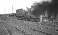 Gresley V3 2-6-2T no 67642 runs up to the coaling stage at 52B Heaton shed around 1962.<br><br>[K A Gray&nbsp;//1962]