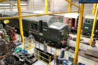 D6700 and D8000 are amongst those receiving attention in the NRM workshops at York on 25 March 2010. Other notable visitors in the workshops that day included Deltic 55002 and most of 4472 <I>Flying Scotsman</I>.<br><br>[John Furnevel&nbsp;25/03/2010]
