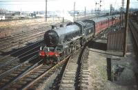 B1 4-6-0 no 61146 with a train of empty stock for Waverley leaving Craigentinny sidings on 30 September 1959. <br><br>[A Snapper (Courtesy Bruce McCartney)&nbsp;30/09/1959]
