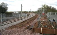 The new line running west from Bathgate towards Armadale on 2 May 2010. <br><br>[John Furnevel&nbsp;02/05/2010]