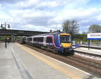170 481 arrives at Stirling on 3 May 2010 with a Dunblane - Glasgow Queen Street service.<br><br>[David Panton&nbsp;03/05/2010]