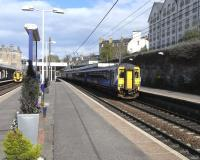 A 4-car 156 with a stopping service for Glasgow Central calls at Haymarket on 3 May 2010<br><br>[David Panton&nbsp;03/05/2010]