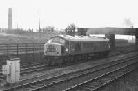 Class 46 locomotive D186 accelerates away from Niddrie West on 4 February 1970 on the line to Millerhill.<br><br>[Bill Jamieson&nbsp;04/02/1970]