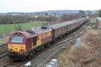 DBS 67020 stands in the loop at Whitecross on 24 March with the empty <i>Fife Circle</i> stock on one of the semi-regular <i>cleaning trips</i> to Perth<br><br>[James Young&nbsp;24/03/2010]