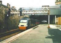 A GNER 125 pulls out of Perth's platform 4 with the Down <I>Highland Chieftain</I> in July 1998<br><br>[David Panton&nbsp;/07/1998]