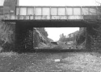 Station remains at Strathaven in April 1969, some three and a half years after closure.<br><br>[Colin Miller&nbsp;/04/1969]