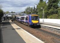 170 421 arrives at Aberdour with a Glenrothes service on 10 May 2010.<br><br>[David Panton&nbsp;10/05/2010]