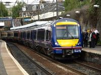 The 1704 service for Glasgow Queen Street calls at Haymarket.<br><br>[Brian Forbes&nbsp;11/05/2010]