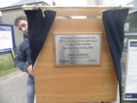 To celebrate the 25th Anniversary of the re-opening of Bridge of Allan station there was a plaque-unveiling by James Anderson, former convenor of Central Regional Council, followed by a tree-planting.<br><br>[John Yellowlees 13/05/2010]