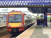 Alloa to Glasgow service at Stirling.<br><br>[Brian Forbes&nbsp;13/05/2010]