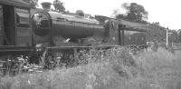 The RCTS (West Riding Branch) <I>Borders Rail Tour</I> from Leeds City, seen here at Jedburgh on 9 July 1961 with no 256 <I>Glen Douglas</I> in charge.<br><br>[K A Gray&nbsp;09/07/1961]
