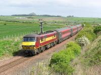 EWS 90020 is about to bring a Waverley bound service off the North Berwick branch at Drem Junction on 16 May 2005<br><br>[James Young&nbsp;16/05/2005]