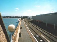 The out of use second platform at Stranraer Harbour, seen in July 1998.<br><br>[David Panton&nbsp;/07/1998]