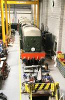 EE Type 1 no D8000 receives attention in the works area at the National Railway Museum on 25 March 2010. <br><br>[John Furnevel&nbsp;25/03/2010]