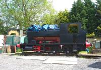 Barclay 0-6-0ST <I>Swordfish</I> (works no 2138 of 1942) photographed at Blunsdon on 15 May. Named after HMS Swordfish, the locomotive is not normally seen on a Saturday as the owners and restorers tend to keep it under wraps.<br> <br><br>[Peter Todd&nbsp;15/05/2010]