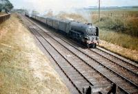 Gateshead A1 Pacific no 60137 <I>Redgauntlet</I> has just passed through Drem station with an ECML service bound for Edinburgh in June 1958.<br><br>[A Snapper (Courtesy Bruce McCartney)&nbsp;20/06/1958]