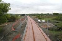 Progress looking toward Bathgate from Boghead Junction on 19 May 2010<br><br>[James Young&nbsp;19/05/2010]