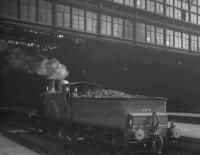 CR123 stands below the great screen of Princes Street train shed on 19 April 1965 after bringing in <I>Scottish Rambler no 4</I> from Glasgow Central.<br><br>[K A Gray&nbsp;19/04/1965]