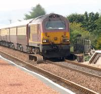 67017 with <I>The Northern Belle</I> heading for Dundee, seen about to pass Springfield on 21 May.<br><br>[Brian Forbes&nbsp;21/05/2010]