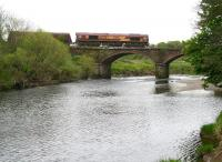 EWS 66238 crosses the River Nith on Martinton Bridge with a southbound coal train in May 2010 on the approach to Dumfries station.<br><br>[John Furnevel&nbsp;13/05/2010]