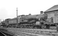 Ex-GWR 4-6-0 no 7807 <i>Compton Manor</I> photographed on shed at Chester (West) thought to be in the late 1950s. The Swindon built 4-6-0 was eventually withdrawn from 89C Machynlleth in November 1964 and cut up at Cashmore's, Great Bridge, three months later.<br><br>[K A Gray&nbsp;//]