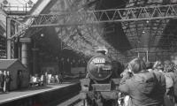 45305 prepares to leave Liverpool Lime Street on 6 April 1968 with the LCGB <I>Lancastrian</I> railtour.<br><br>[K A Gray&nbsp;06/04/1968]