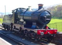 Former GWR 4-4-0 no 3440 <I>City of Truro</I> stands in the sunshine at Carrog in April 2009. <br><br>[Craig McEvoy&nbsp;19/04/2009]