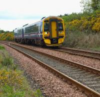 A Perth - Edinburgh train photographed near Annsmuir Crossing, Ladybank on 18 May 2010.<br><br>[Brian Forbes&nbsp;18/05/2010]